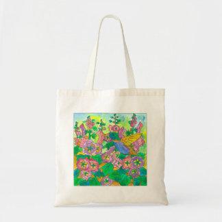 Garden Hummingbird Tote Bag