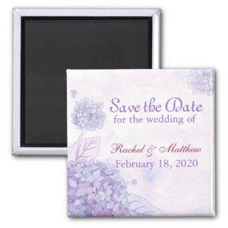 Garden Hydrangea Blooms Wedding Save the Date Magnet