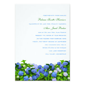 "Garden Hydrangea Wedding Invitations, 5x7 5"" X 7"" Invitation Card"
