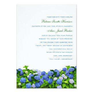 Garden Hydrangea Wedding Invitations, 5x7 Card