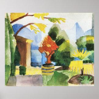 Garden in Hilterfingen by August Macke Poster