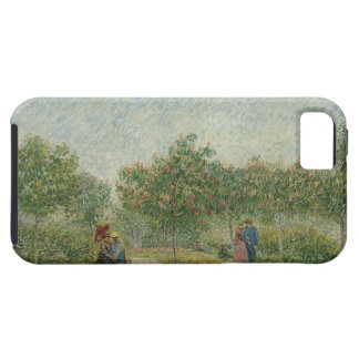 Garden in Montmartre with lovers iPhone 5 Covers