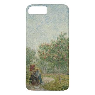 Garden in Montmartre with lovers iPhone 7 Plus Case
