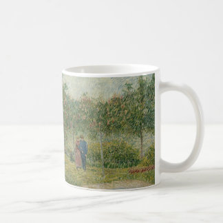 Garden in Montmartre with lovers Coffee Mugs