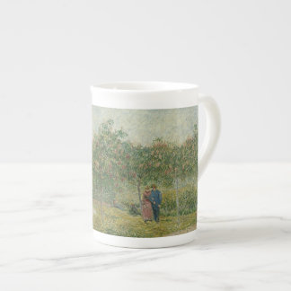 Garden in Montmartre with lovers Bone China Mugs