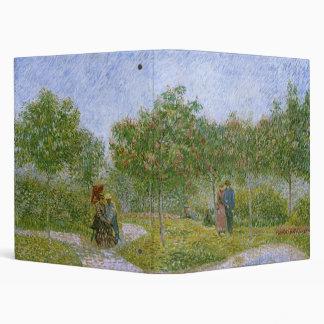 Garden in Montmartre with Lovers, Vincent van Gogh 3 Ring Binder