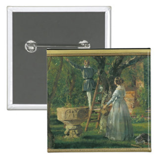 Garden in Ringsted with a Ancient Baptismal 2 Inch Square Button