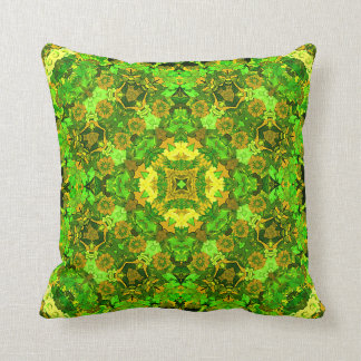 """Garden Inlay"" Throw Pillow"