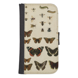Garden Insects by Vision Studio Galaxy S4 Wallet Cases