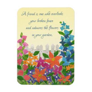 Garden Inspiration Friendship Quote Fridge Magnet