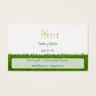Garden_Jardín Business Card