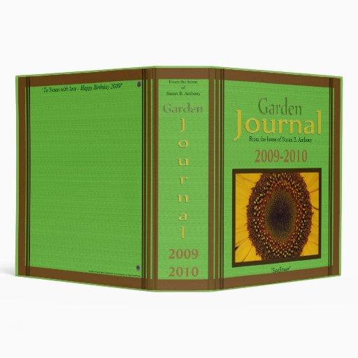 Garden Journal 3 Ring Binders