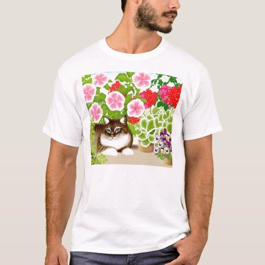 Garden Jungle Cat T-Shirt