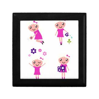 Garden kids pink gift box