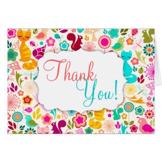 """Garden Kitty """"Thank You"""" Card"""