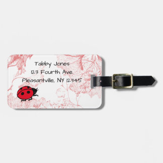 Garden Ladybug for Child with Parent Phone Number Luggage Tag