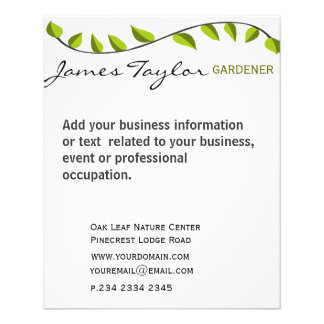 Garden Leaf Gardening Green Custom Flyer