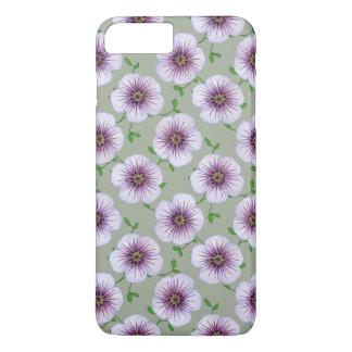 Garden Light Blue Geranium Flower on any Color iPhone 7 Plus Case