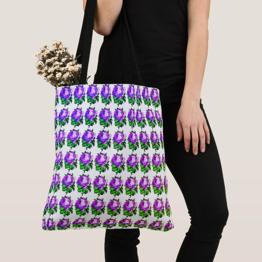 Garden_Lilac_Rose_Totes-Shoulder-Bags Tote Bag