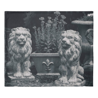 Garden Lions Duvet Cover