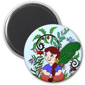 Garden lover fridge magnet