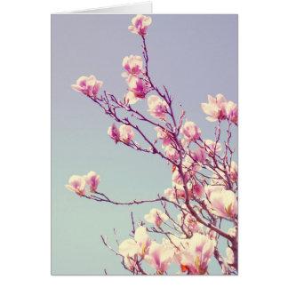 Garden Magnolias Greeting Card