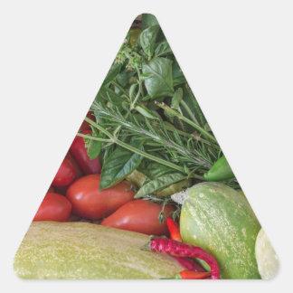 Garden Medley Triangle Sticker