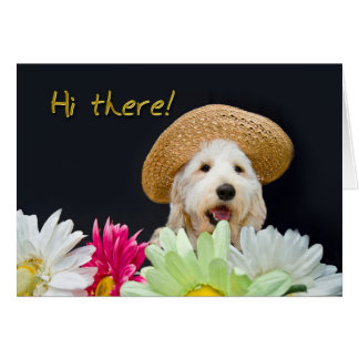 Garden Note Cards - Puppy Flowers