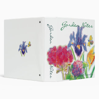 Garden Notes-notebook 3 Ring Binders
