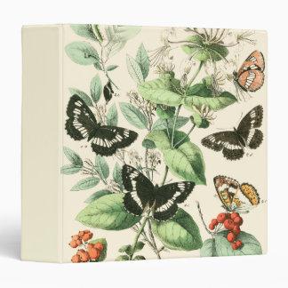 Garden of Butterflies and Flowers 3 Ring Binders