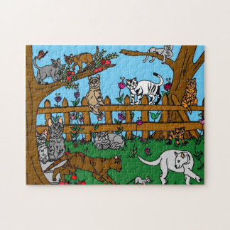 Garden of cats jigsaw puzzle