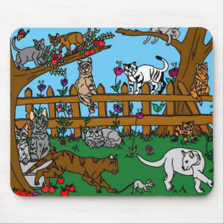 Garden of Cats Mouse Pad