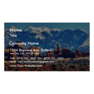 Garden Of Eden At Arches National Park Business Card Template