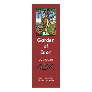 Garden of Eden bookmark Business Card Template