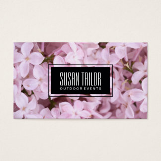 Garden of Eden | Exquisite Flowers, Black Frame Business Card