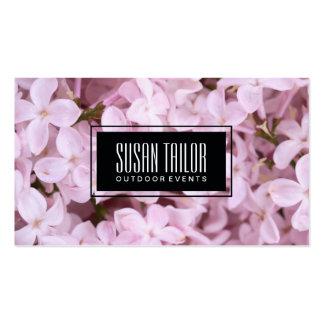 Garden of Eden | Exquisite Flowers, Black Frame Pack Of Standard Business Cards