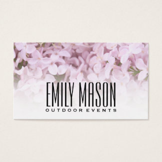 Garden of Eden | Exquisite Flowers, White Fade Business Card