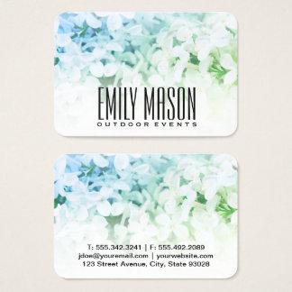 Garden of Eden | Exquisite Flowers, White Fade Business Card