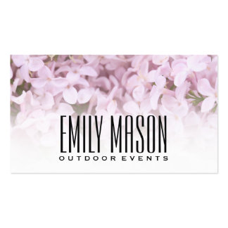 Garden of Eden | Exquisite Flowers, White Fade Pack Of Standard Business Cards