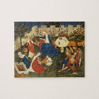 Garden of Eden medieval art Jigsaw Puzzle