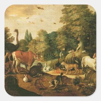 Garden of Eden (oil on canvas) Square Sticker