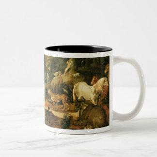 Garden of Eden (oil on canvas) Two-Tone Coffee Mug