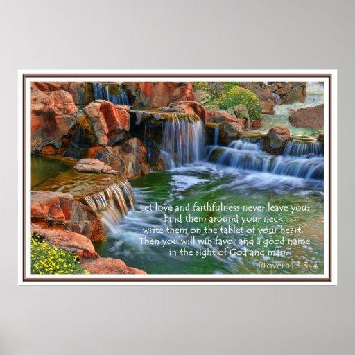 Garden Of Eden Proverbs 3 Faith Poster
