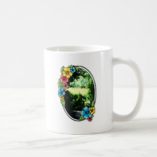 Garden of Eden with Colorful Frame Classic White Coffee Mug