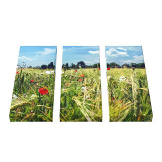 Garden of England Summer Meadow Wild Flowers Scene Canvas Print