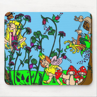 Garden of Faeries Mouse Pad