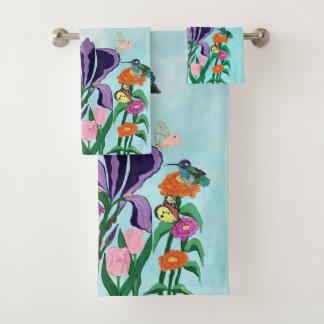 Garden of Heavenly Delights Bath Towel Set