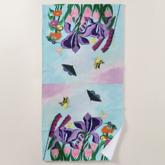 Garden of Heavenly Delights Beach Towel