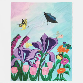 Garden of Heavenly Delights Fleece Blanket