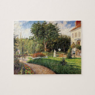 Garden of Les Mathurins at Pontoise by Pissarro Jigsaw Puzzle